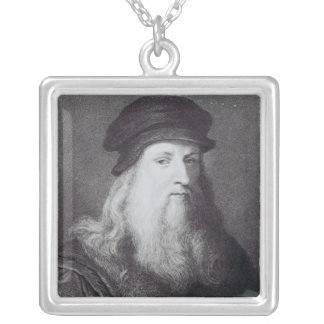 Leonardo da Vinci, engraved by Raphael Silver Plated Necklace