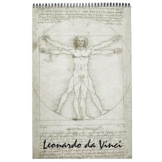 Leonardo da Vinci Fine Art Sketches and Drawings Wall Calendar
