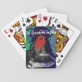 Leonardo Da Vinci Genius Mixed Media Collage Playing Cards