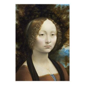 Leonardo Da Vinci Ginevra De Benci Personalized Announcement