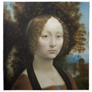 Leonardo Da Vinci Ginevra De' Benci Painting Napkin