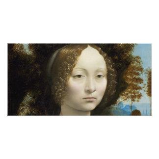 Leonardo Da Vinci Ginevra De' Benci Painting Photo Card