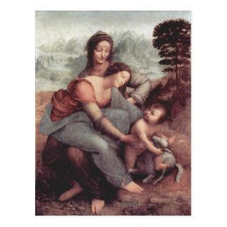 Leonardo da Vinci Hl. Anna Selbdritt, Szene: Hl. A Postcard