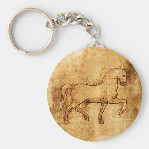 Leonardo Da Vinci Horse Art Key Chains