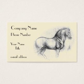 Leonardo-da-Vinci-horse Business Card