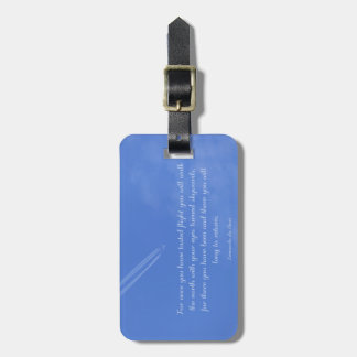 Leonardo Da Vinci inspirational flight quote Luggage Tag
