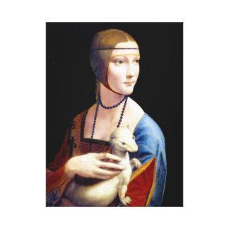 Leonardo da Vinci Lady with an Ermine Canvas Print