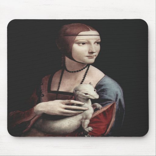 Leonardo Da Vinci - Lady with an Ermine Mousepads