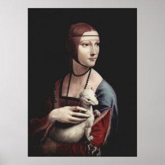 Leonardo Da Vinci - Lady with an Ermine Poster