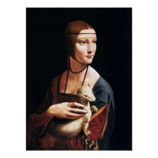 Leonardo Da Vinci Lady with an Ermine Poster