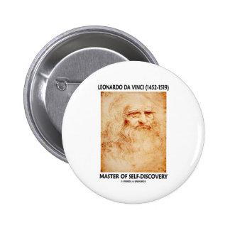 Leonardo da Vinci Master Of Self-Discovery 6 Cm Round Badge