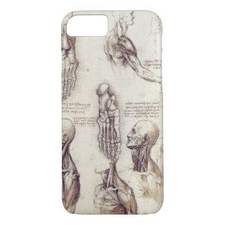 Leonardo Da Vinci Medical sketches, body parts iPhone 8/7 Case