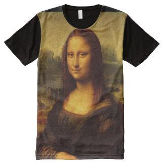 Leonardo Da Vinci Mona Lisa Fine Art Painting All-Over Print T-Shirt