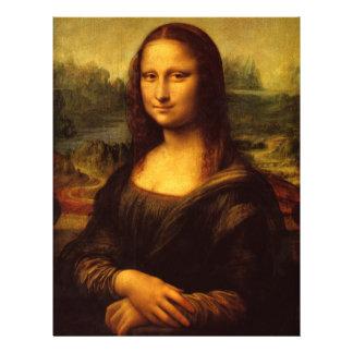 Leonardo Da Vinci Mona Lisa Fine Art Painting 21.5 Cm X 28 Cm Flyer