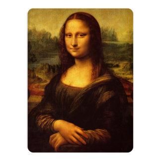 Leonardo Da Vinci Mona Lisa Fine Art Painting 14 Cm X 19 Cm Invitation Card