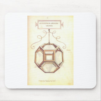 Leonardo da Vinci Octahedron Mouse Pads