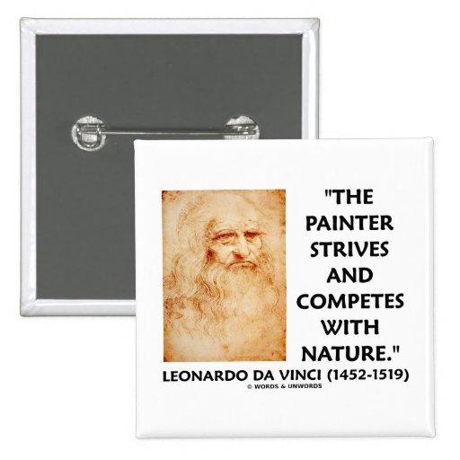 Leonardo da Vinci Painter Strives Competes Nature 15 Cm Square Badge