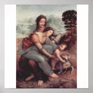 Leonardo Da Vinci Painting circa 1510 Poster