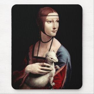 Leonardo da Vinci - Portrait of a Lady with Ermine Mouse Pad