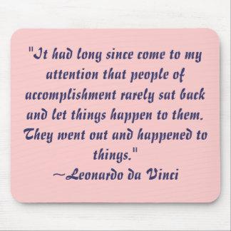 Leonardo da Vinci Quote Mousepad