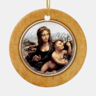 Leonardo-da-Vinci's Madonna Ornament. Christmas Ornament