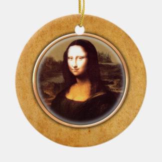 Leonardo-da-Vinci's Mona Lisa Ornament. Christmas Ornament