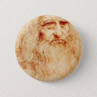 Leonardo Da Vinci Self-Portrait circa 1510-1515 6 Cm Round Badge