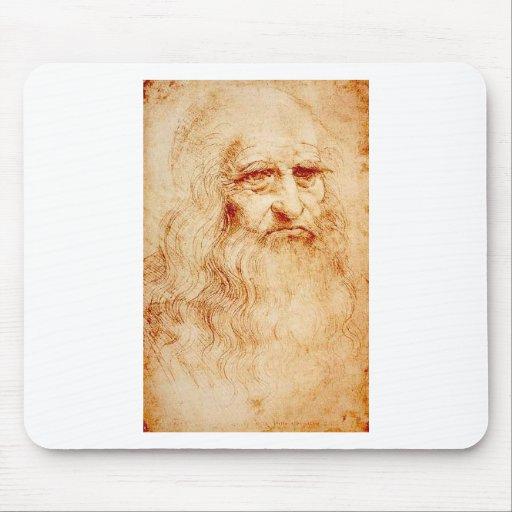 Leonardo Da Vinci Self-Portrait circa 1510-1515 Mouse Pads