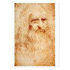 Leonardo Da Vinci Self-Portrait circa 1510-1515 Postcard