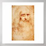 Leonardo Da Vinci Self-Portrait circa 1510-1515 Print