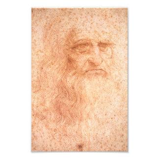 Leonardo da Vinci Self Portrait Red Chalk Photograph