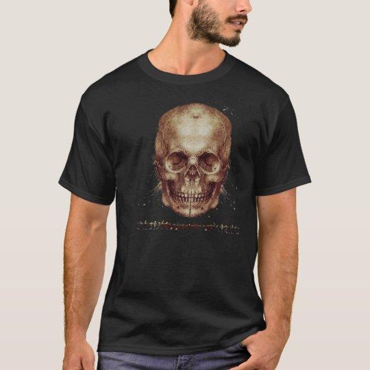 Leonardo Da Vinci Skull T-Shirt
