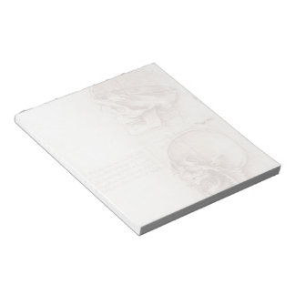 Leonardo da Vinci- Studies of human skull Notepad