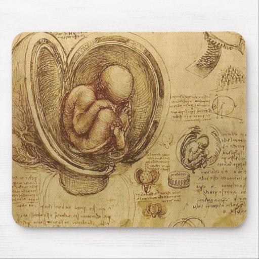 Leonardo Da Vinci -  Study of Anatomy Mouse Pads