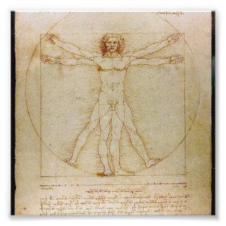 Leonardo Da Vinci, The Vitruvian Man,Renaissance Art Photo