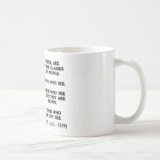 Leonardo da Vinci Three Classes Of People Quote Mug