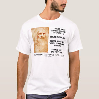 Leonardo da Vinci Three Classes Of People Quote T-Shirt