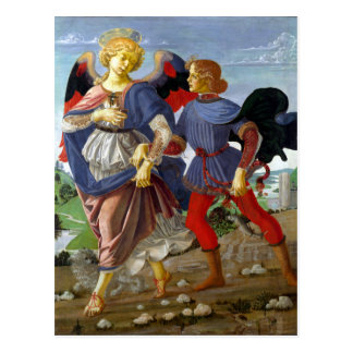 Leonardo da Vinci Tobias and the Angel Postcard
