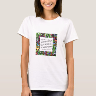 Leonardo Da Vinci vegetarian quote T-Shirt