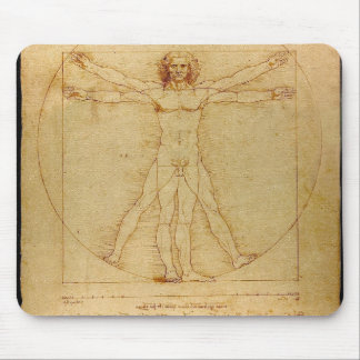 Leonardo Da Vinci Vitruvian Man Anatomy Mouse Pad