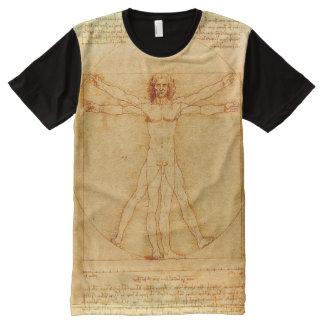 Leonardo da Vinci Vitruvian Man drawing All-Over Print T-Shirt