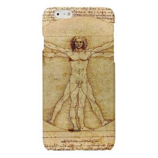 Leonardo da Vinci - Vitruvian Man Illustration Glossy iPhone 6 Case