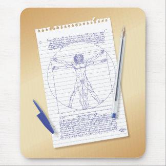 Leonardo da Vinci Vitruvian Man Mouse Pad