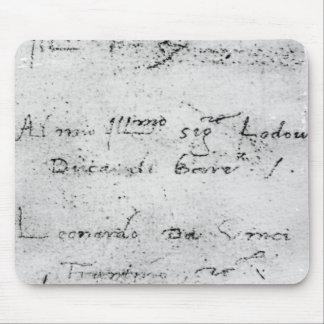 Leonardo da Vinci's handwriting Mouse Pad