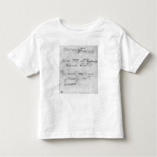 Leonardo da Vinci's handwriting Toddler T-Shirt