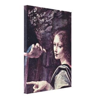 Leonardo di ser Piero da Vinci - Angels Uriel Gallery Wrapped Canvas