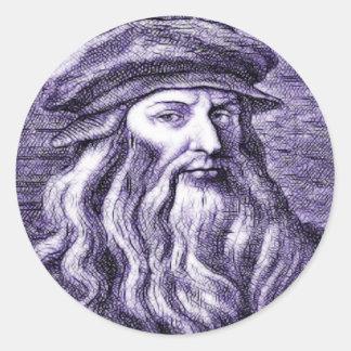 Leonardo Round Sticker