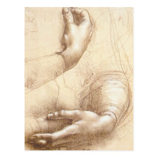 Leonardo-Study-of-hands Postcard