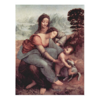 Leonardo Vinci- The Virgin and Child with St. Anne Postcard