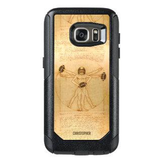 Leonardo Vitruvian Man As American Football Player OtterBox Samsung Galaxy S7 Case